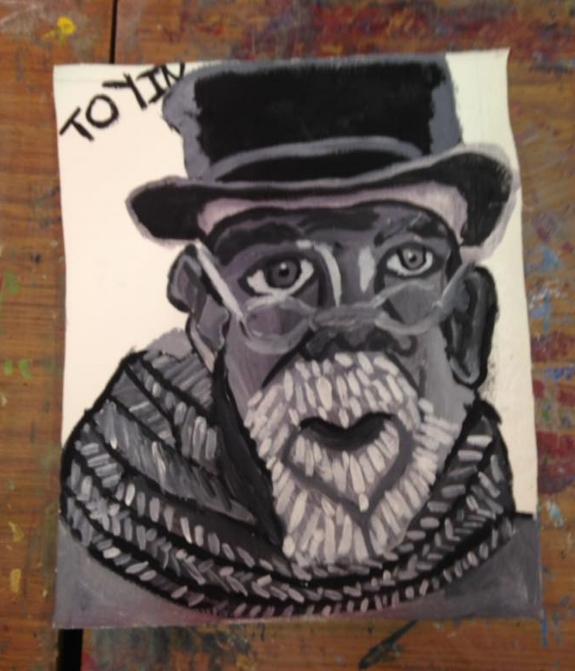 Toyin's monochrome portrait