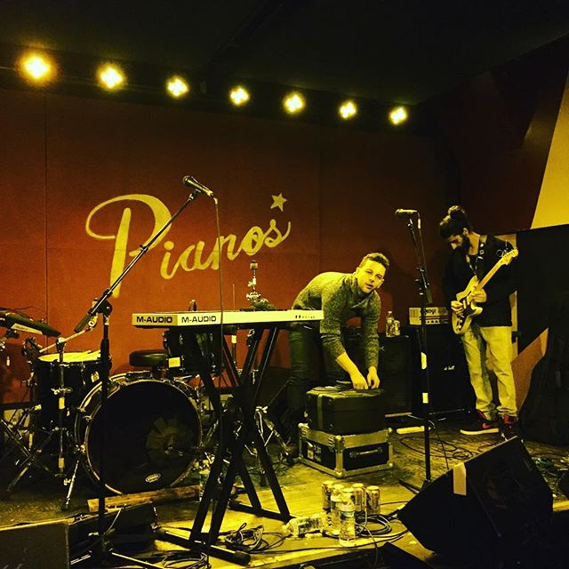 Sound check on this snowy Saturday for our glorious return to @pianosnyc after 7 long months away from one of our favorite venues in the city. The set starts at 10pm. Be there.  #livemusic #nycmusic #saturdaynight #concert #mikehubbard #synthpop #singersongwriter #lowereastside #eastvillage #manhattan #pianosnyc