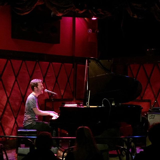 """Incredible performance by @benthornewill of @jukeboxtheghost last night at #rockwoodmusichall. Showed off some of his piano skillz by improvising an entire instrumental piece called """"Paul,"""" named after an audience member. Hilarious AND amazing.  #jukeboxtheghost #lowereastside #eastvillage #piano #singersongwriter"""