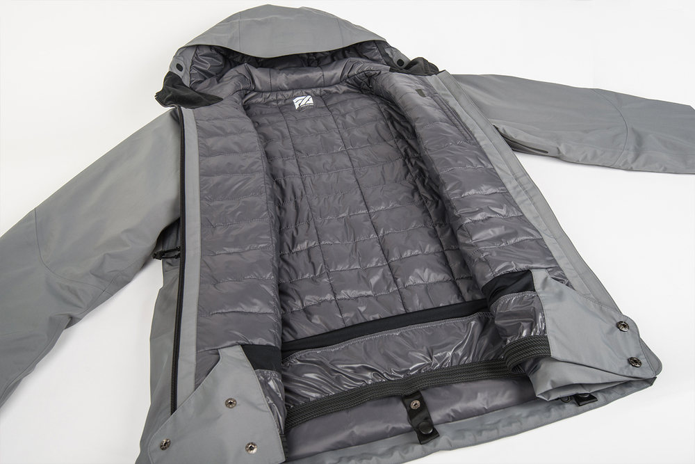 Strategically designed quilt pattern for optimal performance and breathability.