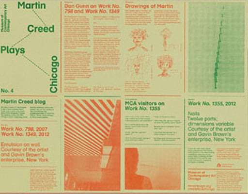 """Martin Creed Plays Chicago"" Newspaper, Museum of Contemporary Art"