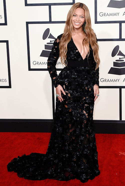 Beyonce  attends The 57th Annual GRAMMY Awards at the STAPLES Center on February 8, 2015 in Los Angeles, California.