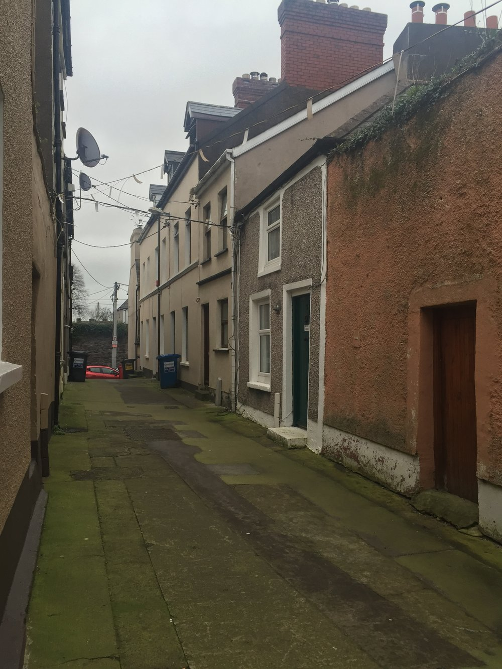 My Airbnb.  Bijou house in the Shandon section of Cork City.  Ancestral home, just around the corner.