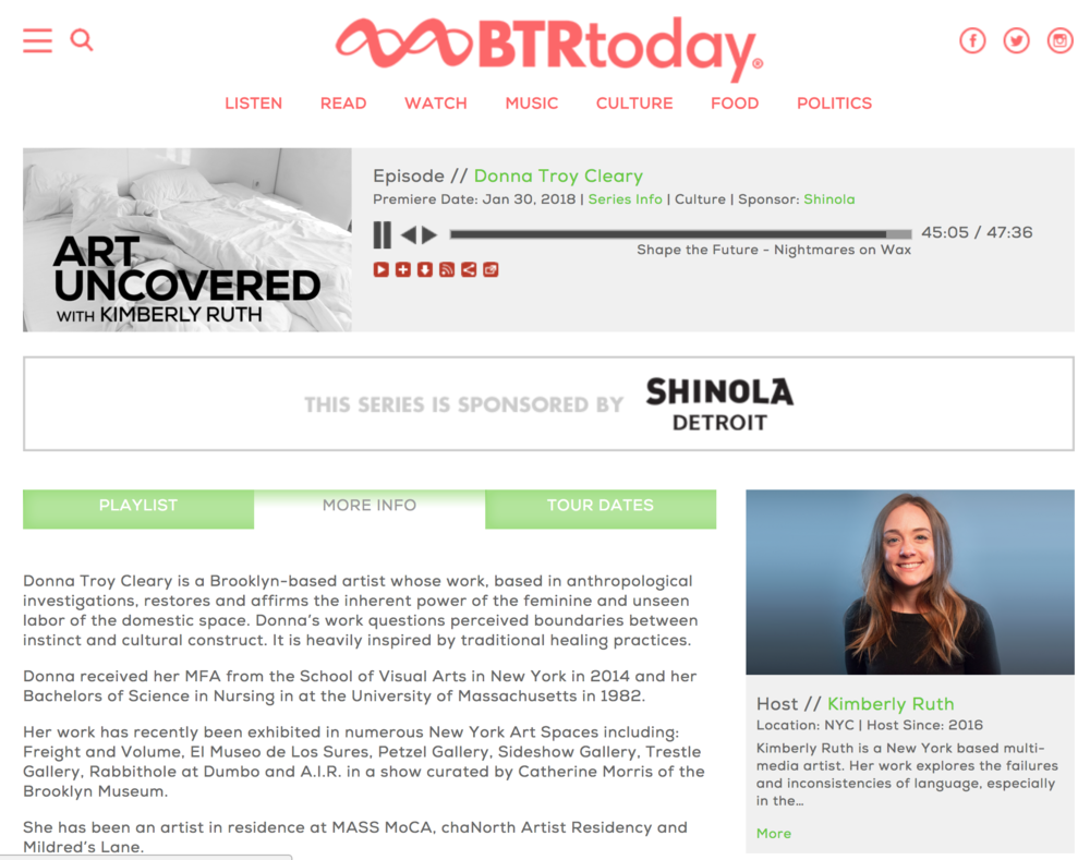 http://www.btrtoday.com/listen/artuncovered/donna-troy-cleary/