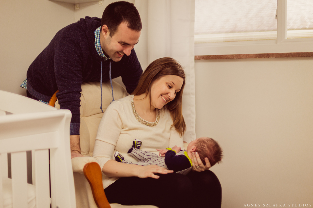 family of three-baby boy | cleveland lifestyle newborn photographer