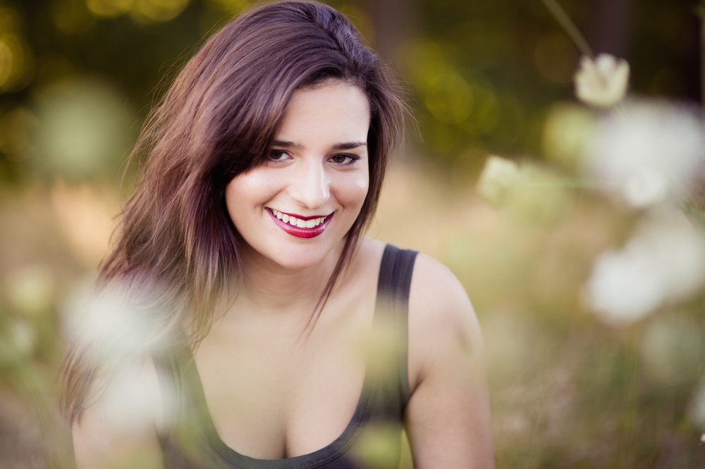 brunette woman red with red lipstick | cleveland portrait photographer