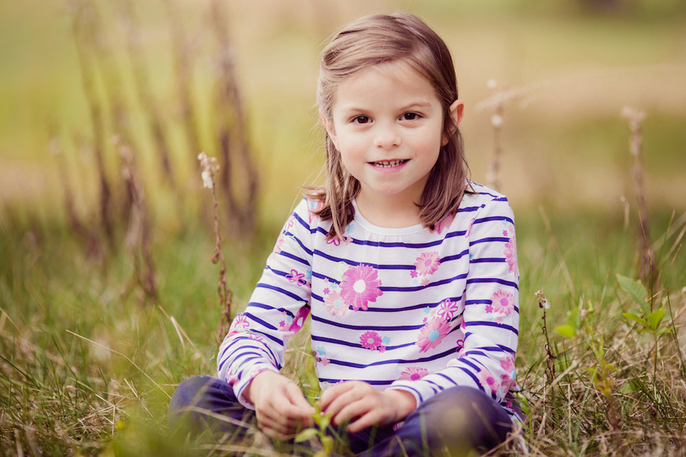 five year old sitting on grass | cleveland children photos