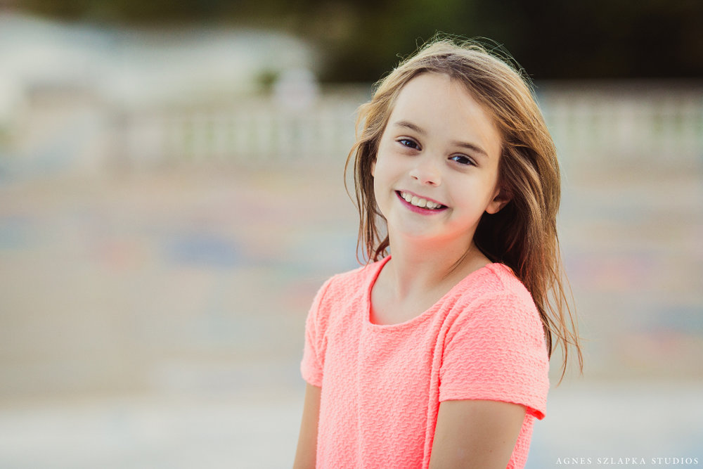 third grade beautiful girl laughing | cleveland ohio family photographer