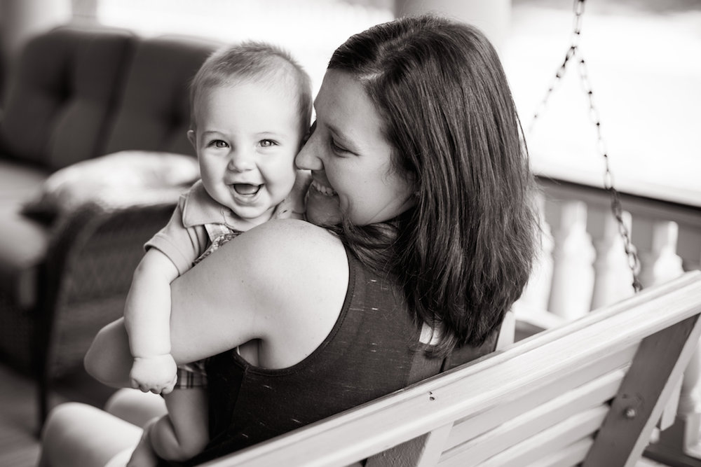 mommy and baby son laughing | cleveland motherhood portraits