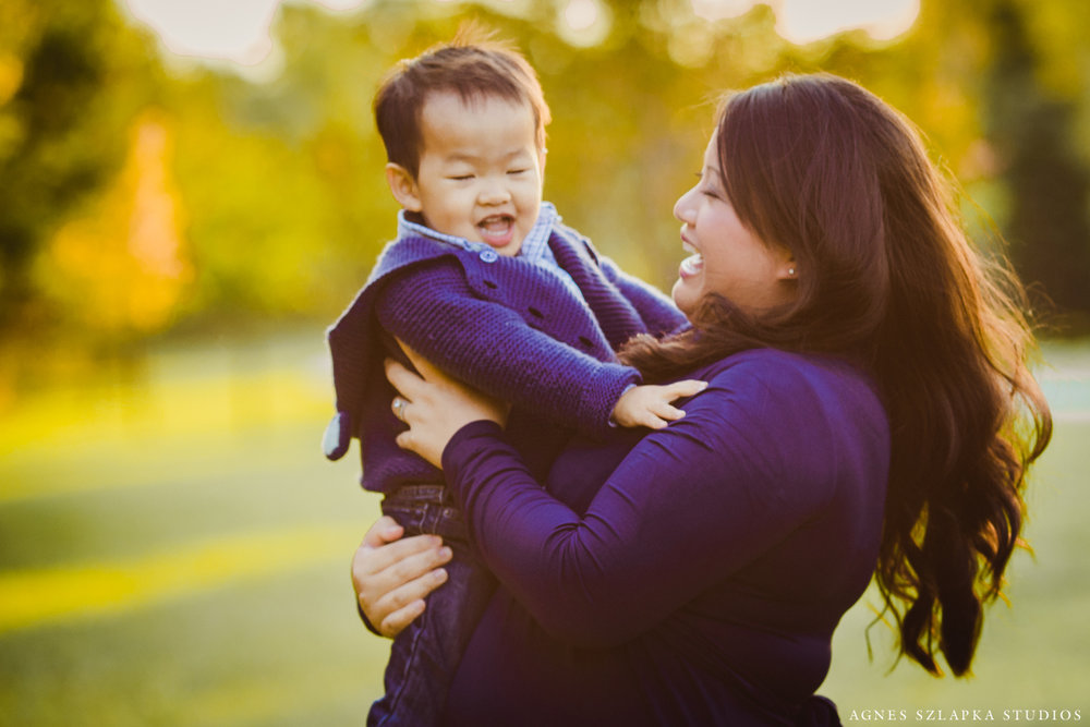 mom with baby son | beachwood OH family portraits