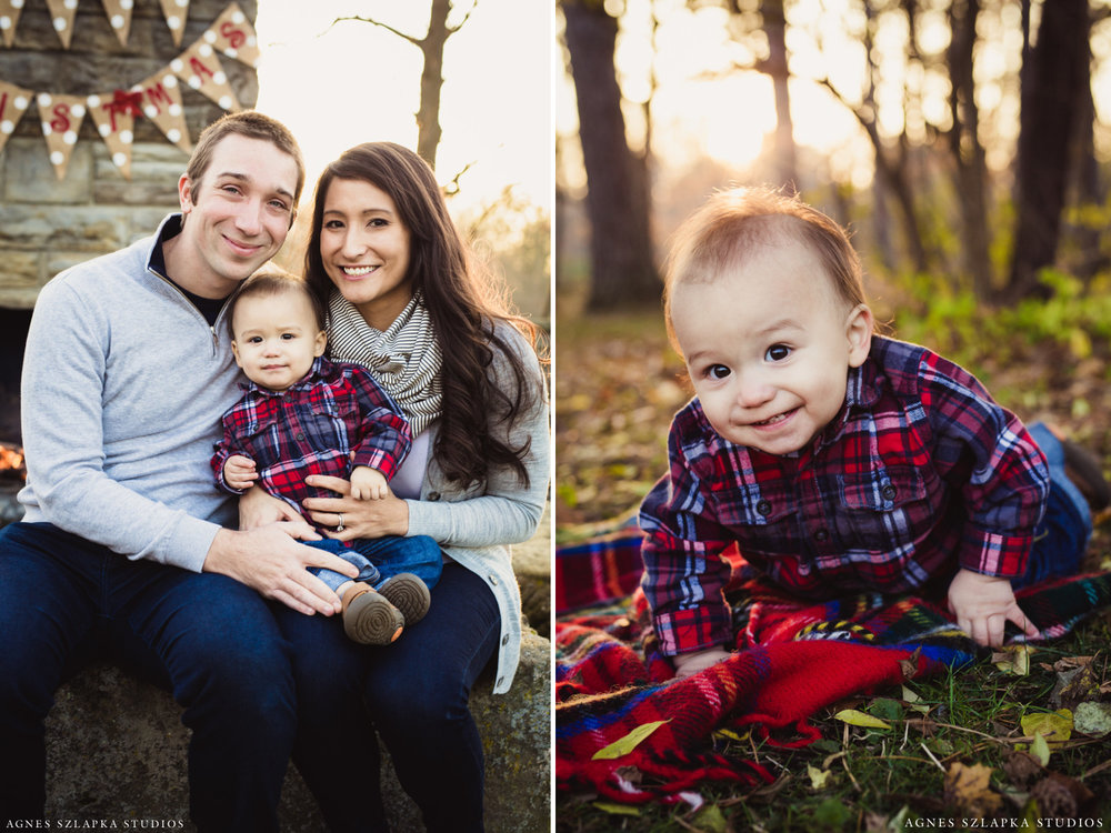 baby boy crawling on grass | cleveland, ohio family photographer