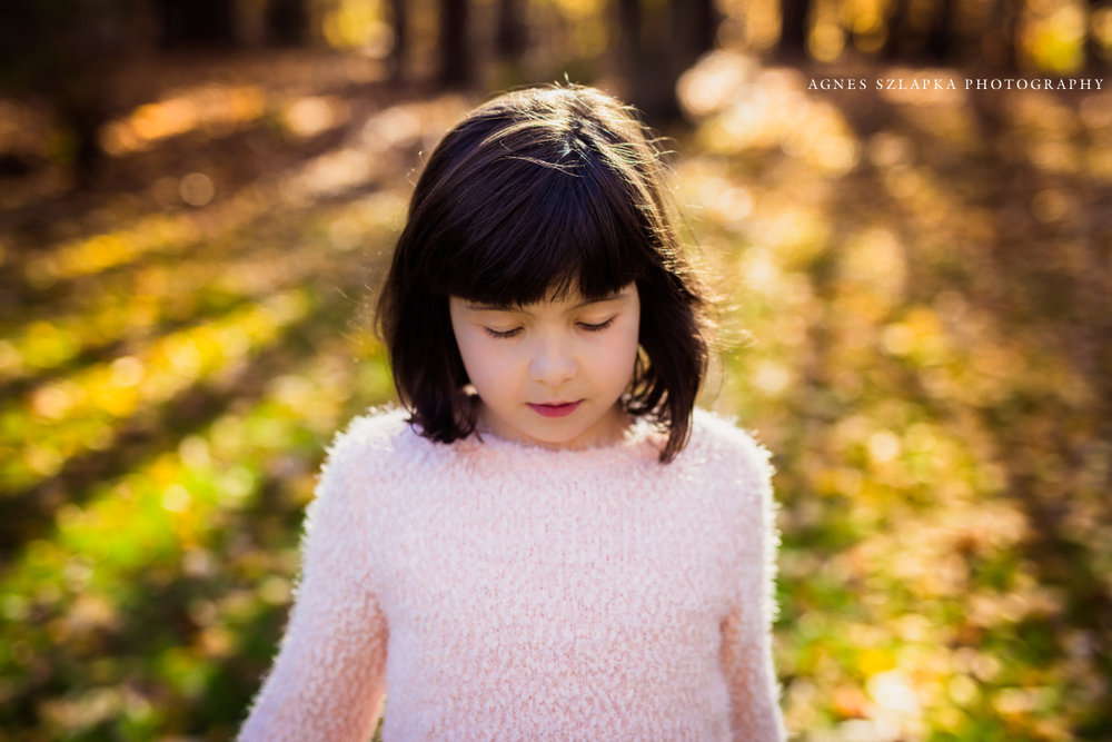 beautiful girl child standing in the sun | cleveland, ohio family photography