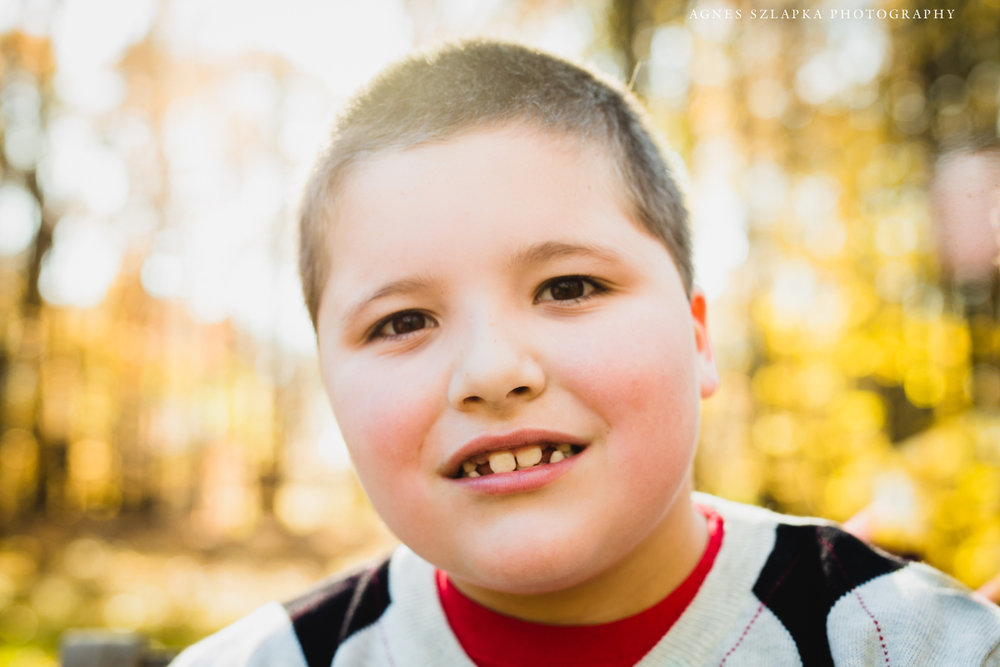 boy with autism posing for picture | cleveland, kids photographer