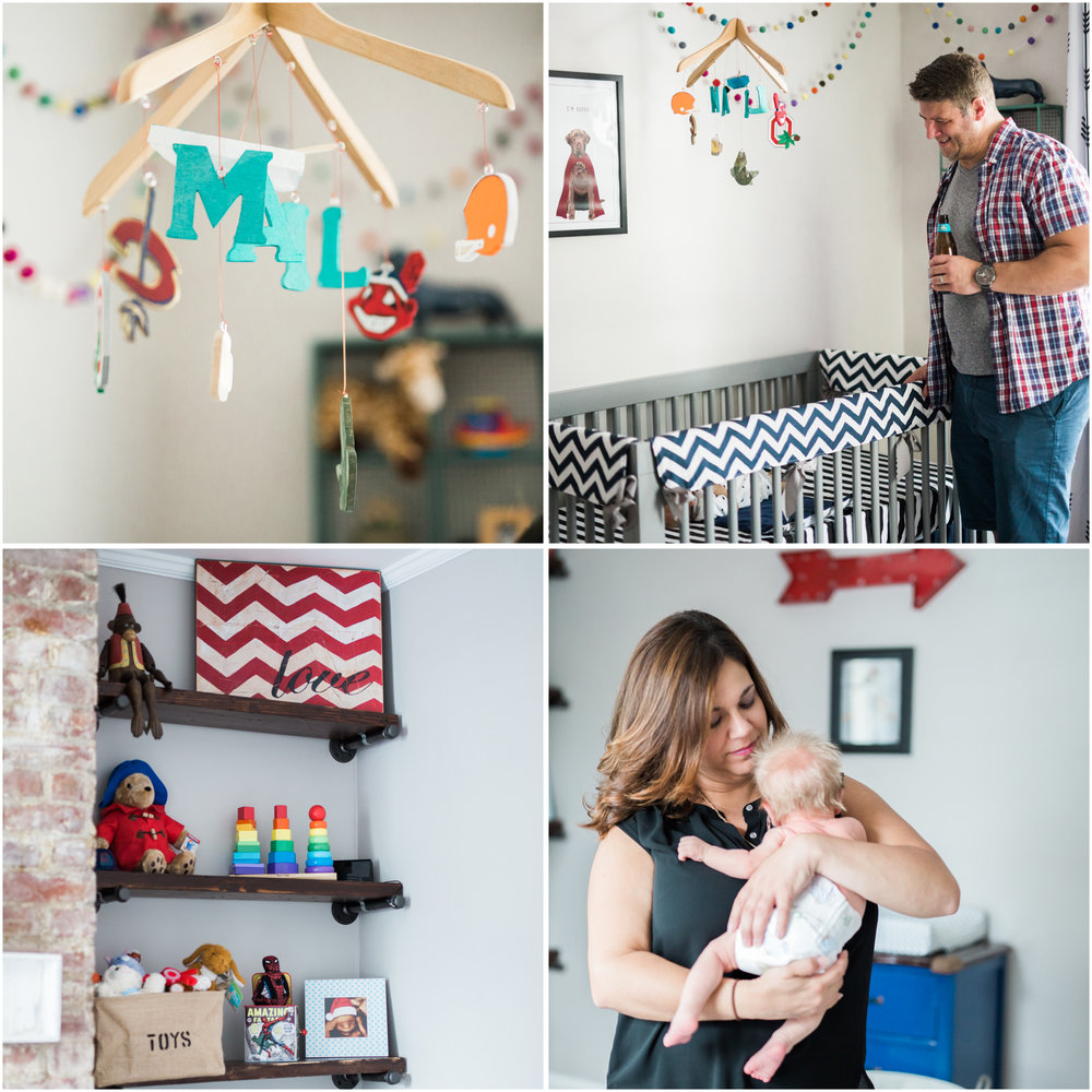 baby boys nursery room details | cleveland, ohio lifestyle newborn photos