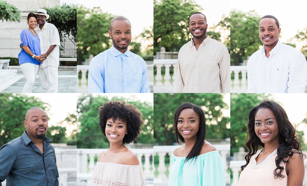 headshots of all seven siblings in family | cleveland lifestyle photographer