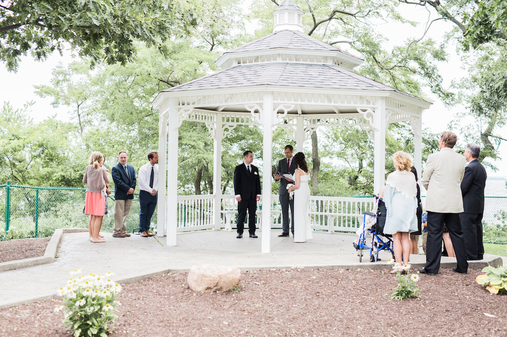 lakewood park gazebo marriage vow exchange | cleveland photographer