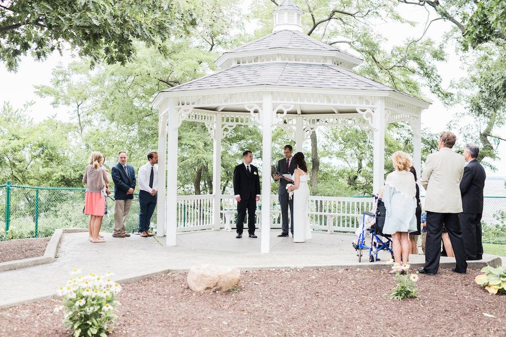 lakewood park gazebo marriage vow exchange | cleveland photographer