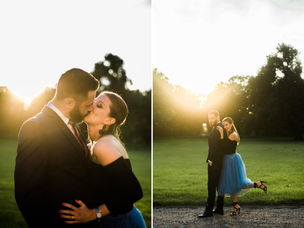 woman wearing blue tule skirt | cleveland, oh lifestyle portraits