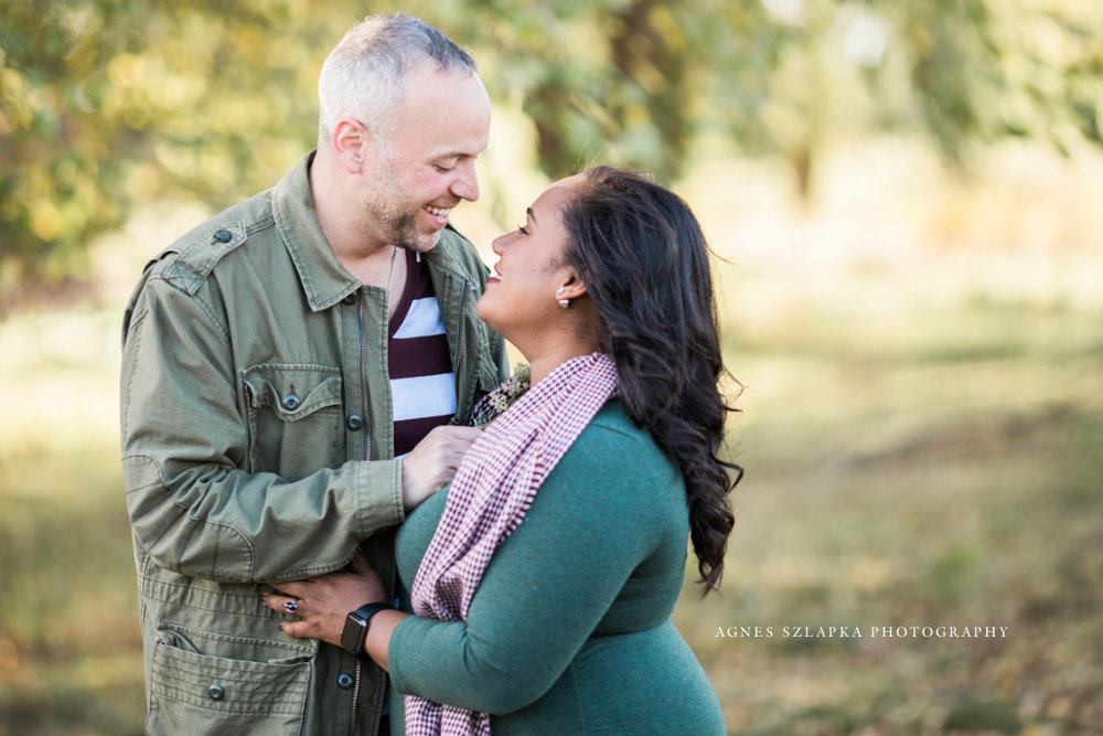 husband and wife looking into each others eyes | cleveland, family photographer