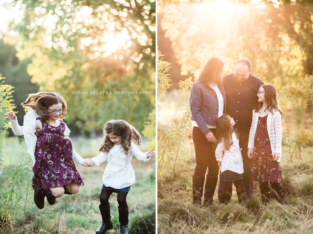 two small sisters jumping in leaves | cleveland, OH family photographer