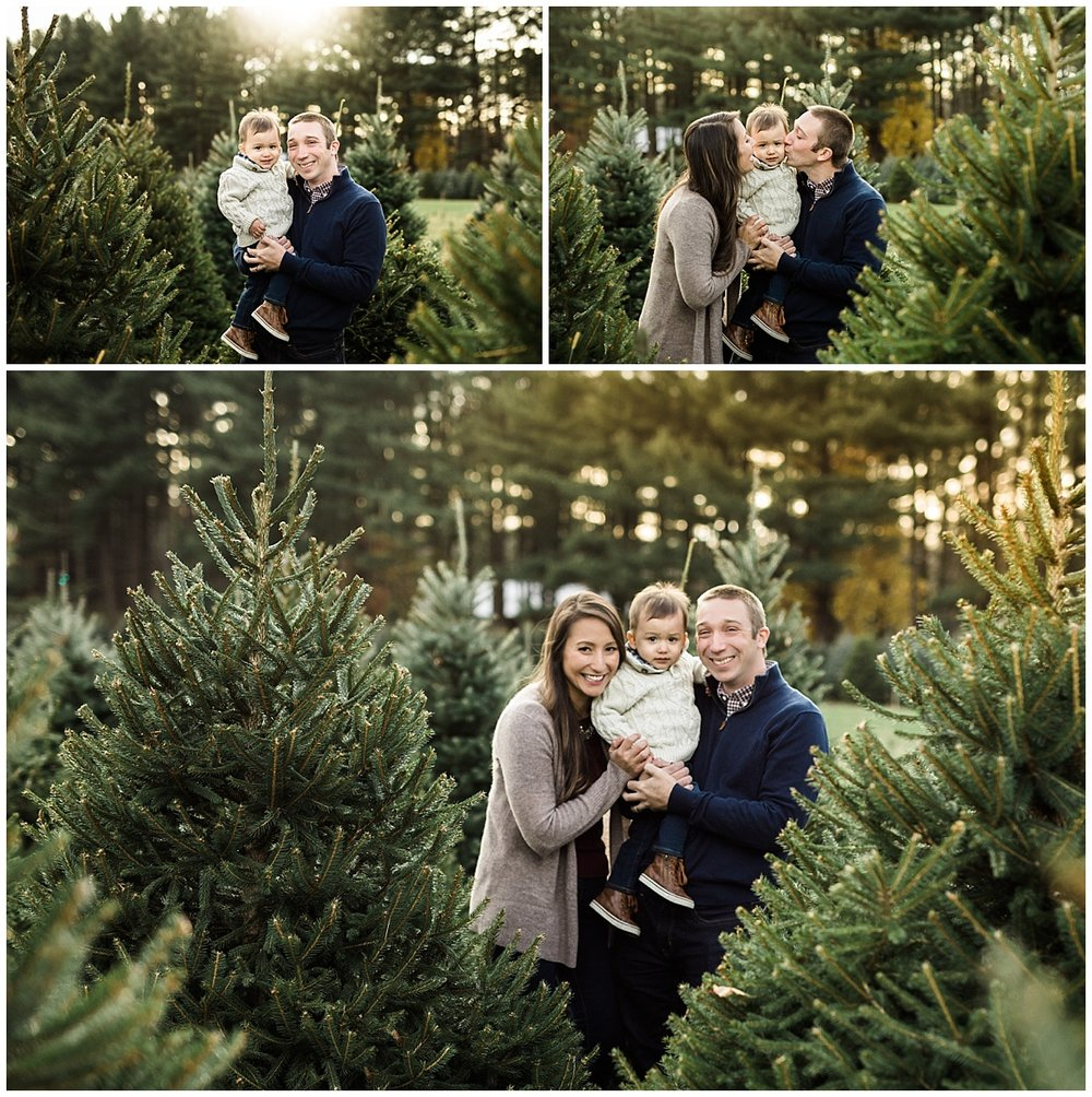 dad and son at the christmas tree farm | cleveland, OH family photographer