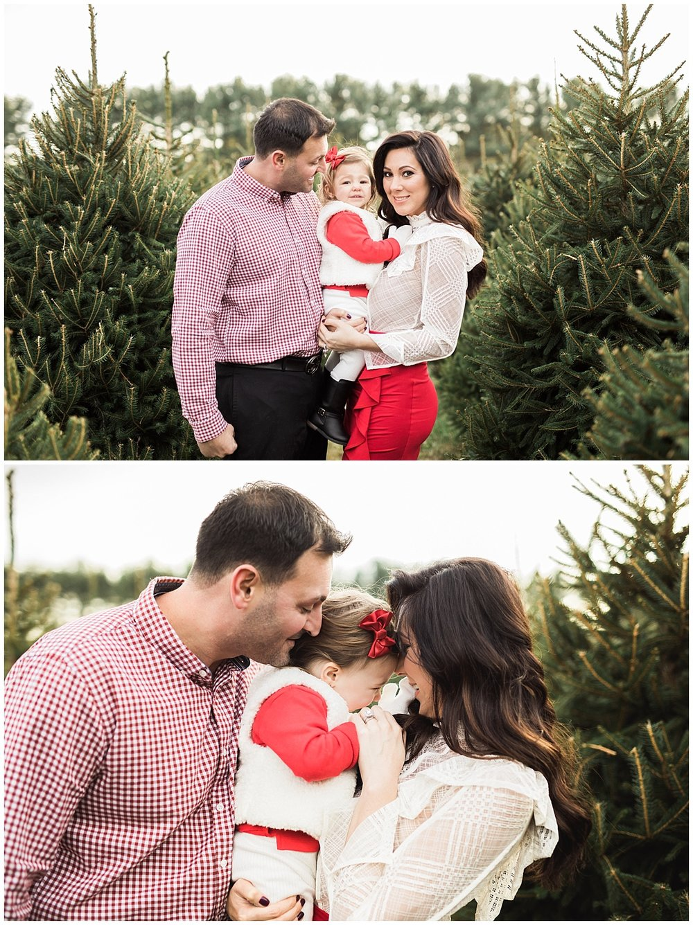 christmas pictures at sugar pines farm | cleveland, OH family photography