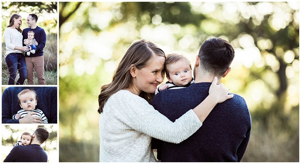 family of three in lakefront nature preserve | cleveland newborn photographer