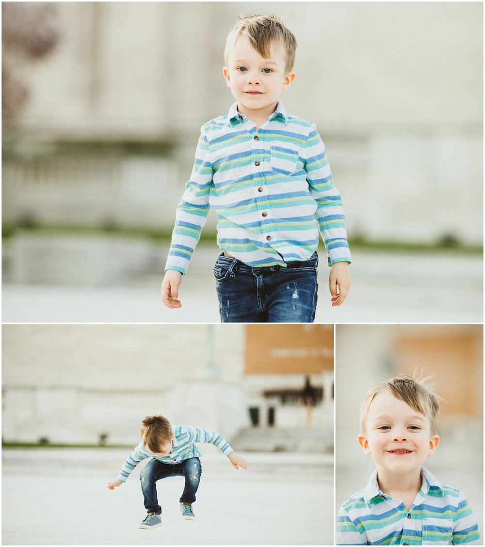 three year old boy with blue shirt and jeans | cleveland, OH pregnancy photographer