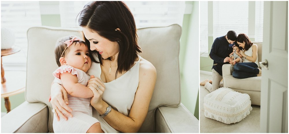 mom and baby girl cuddling | cleveland OH family photographer