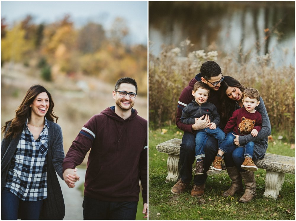 fall family photography in beachwood city park | cleveland OH photographer