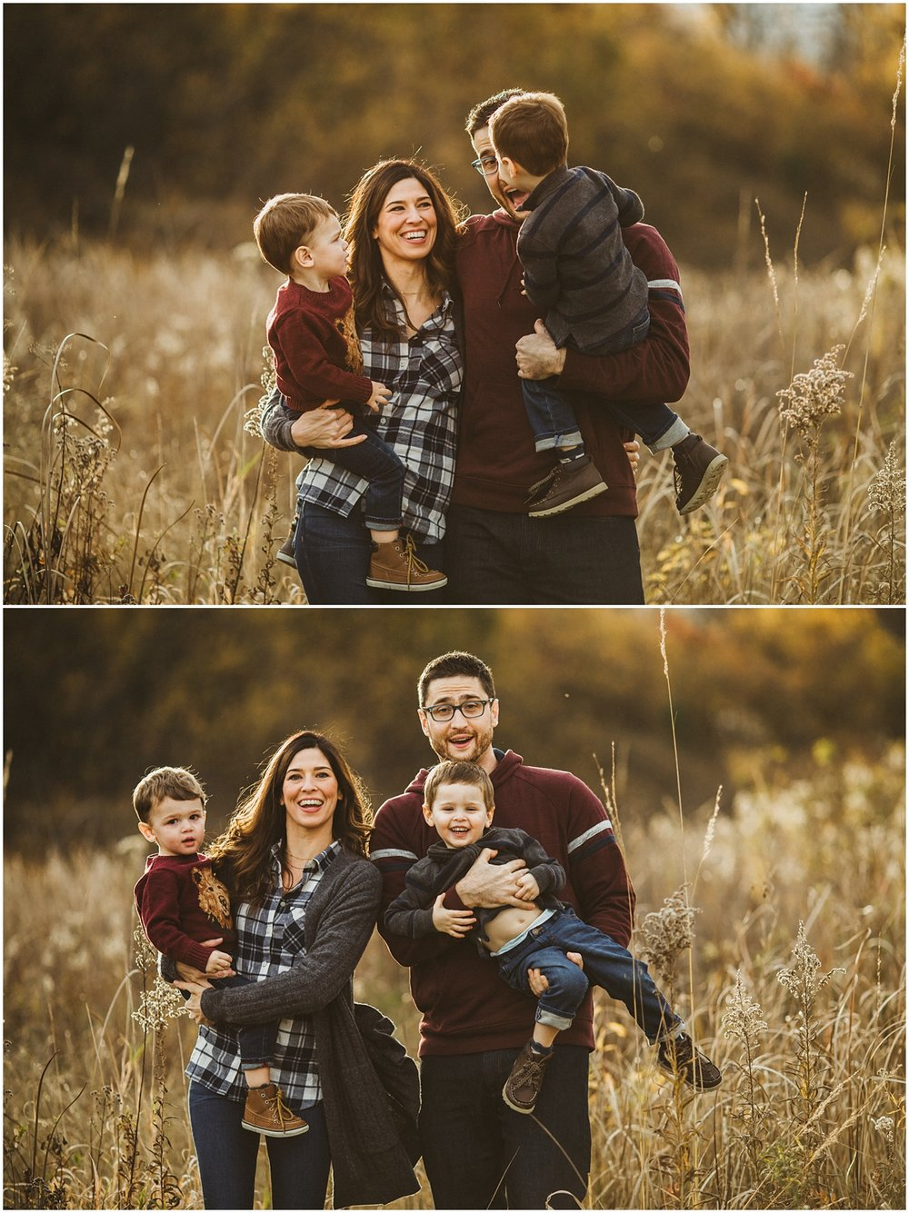 mom and dad with two boys | cleveland OH family photographer
