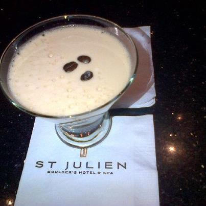 St. Julien Hotel, Boulder, CO. Paired with Spirit Hound Gin. Cheers!