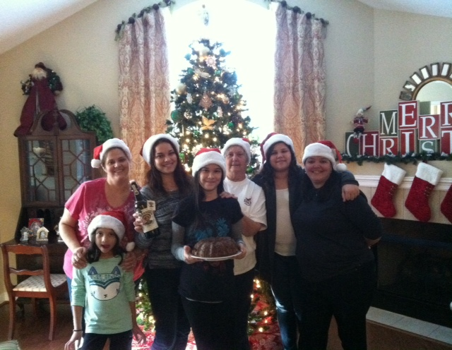 Heather Braun and family baking up some Richardo's holiday love in North Carolina