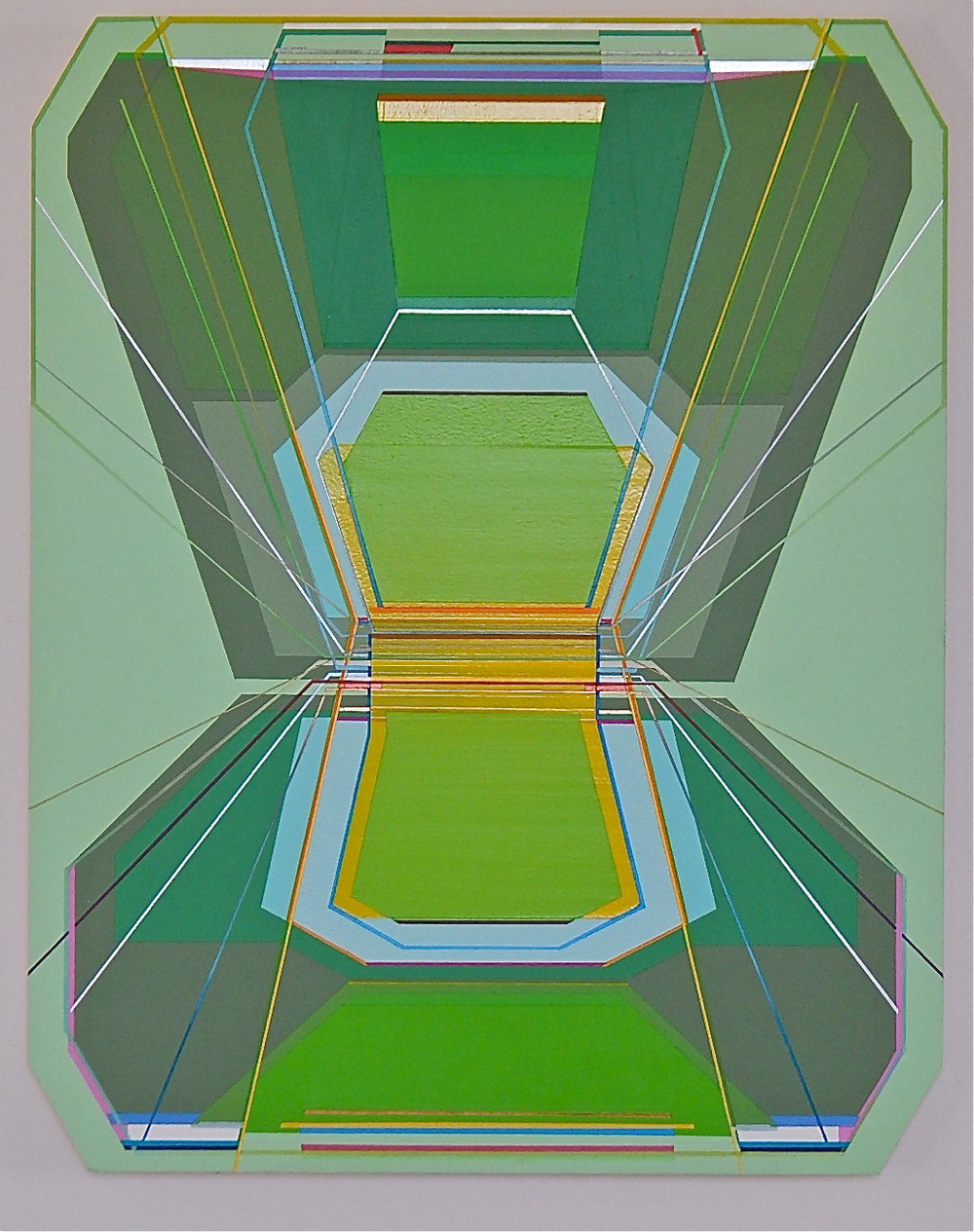 "Jason Gubbiotti  Groom's Lake , 2015 Acrylic on wood panel 19 5/8"" x 15.5"" Courtesy of Civilian Art Projects"