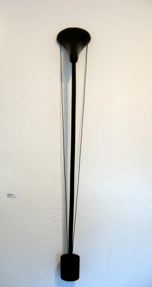 "Jeff Spaulding  Narcissus  2005 rubber, steel, neoprene 46.5"" x 6.5"" x 5.5"""