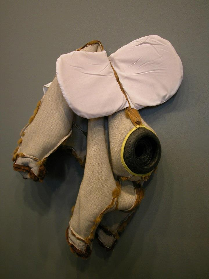 "Jeff Spaulding  Northern Skin   2006 polyester plush, zipper 24"" x 21"" x 8"""