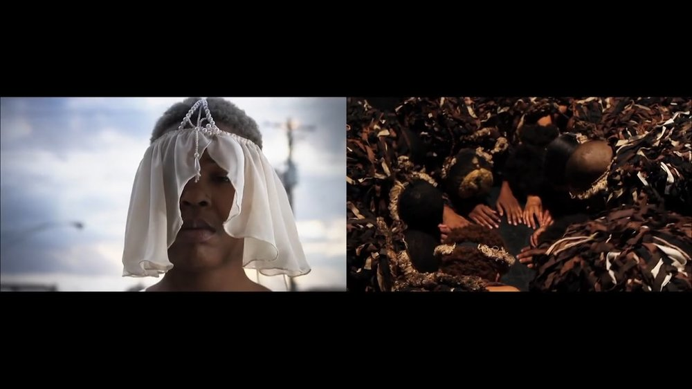 Jefferson Pinder  Overture: Star of Ethiopia  2013 2 channel video installation Edition of 5   excerp  t »