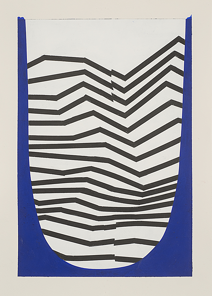 "Tim Doud  NBBKP (  Ultramarine)  14"" x 10"" Acrylic, Flashe on Primed Paper 2017"