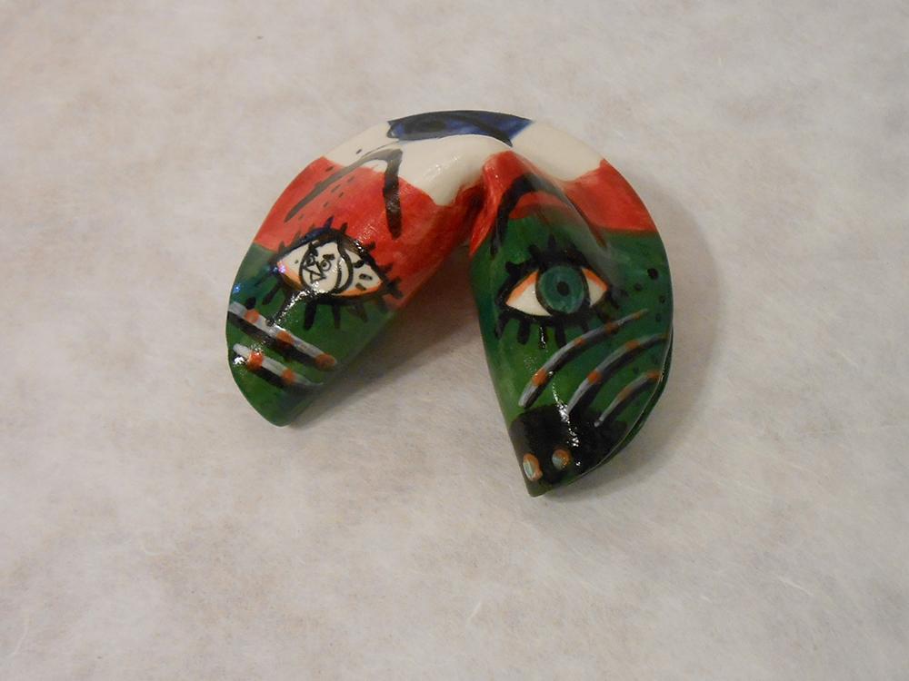 Jiha Moon  Fortune Cookie 6  Earthenware ceramic Dimensions variable 2014