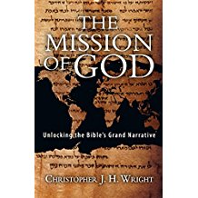 The Mission of God - Unlocking the Bible's Grand Narrative by Christopher J. H. Wright - Most Christians would agree that the Bible provides a basis for mission.  But Christopher Wright boldly maintains that there is a missional basis for the Bible! The entire Bible is generated by and all about God's mission. In order to understand the Bible, we need a missional hermeneutic, an interpretive perspective in tune with this great missional theme. We need to see how the familiar bits and pieces fit into the grand narrative of Scripture. Beginning with the Old Testament and its groundwork for understanding who God is, what he has called his people to be and do, and how the nations fit into God's mission, Wright gives us a new hermeneutical perspective on Scripture. This perspective provides a solid and expansive basis for holistic mission. God's mission is to reclaim the world―including the created order―and God's people have a designated role to play.