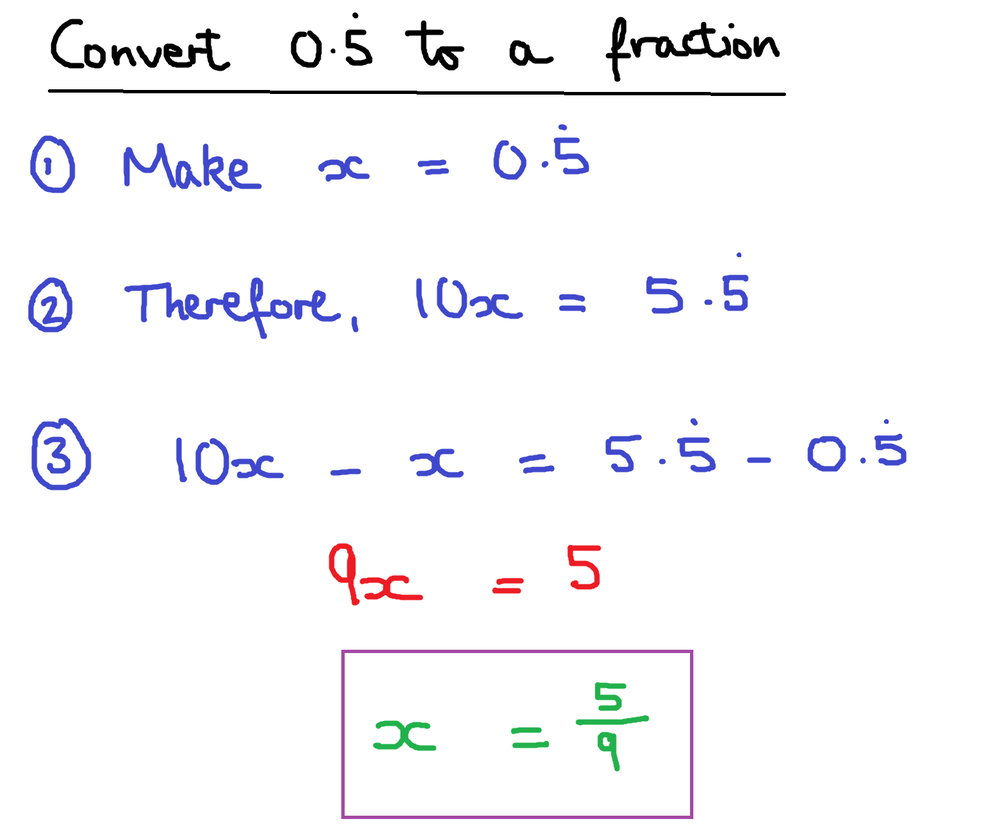 how to find decimal to fraction