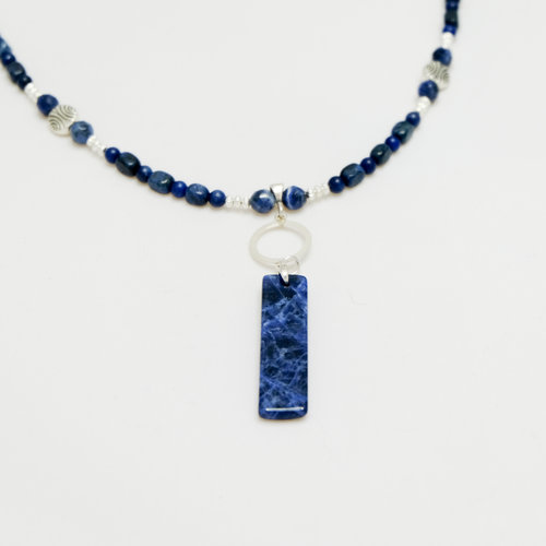 necklace brass sodalite products ingrid ysla