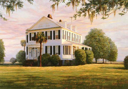 southern plantation revisited 11 x 15 douglas grier art
