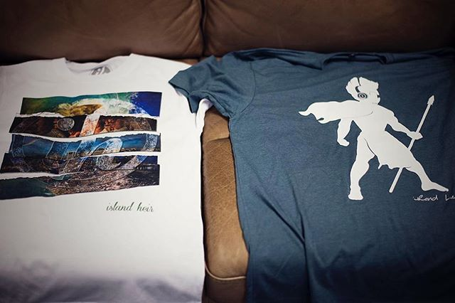 Premium printed Island Heir T-shirts (IH Photo Collage White + Headphone Warrior Indigo) ・・・ #Repost @islandheirmusic