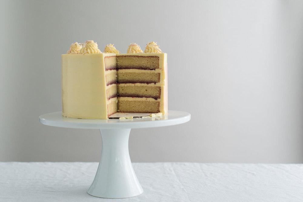 sliced organic vanilla cake  raspberry  jam.jpg