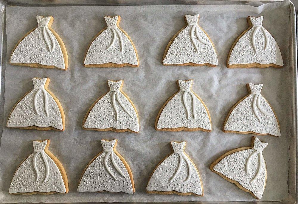 elegant bridal shower wedding dress cookies.jpg
