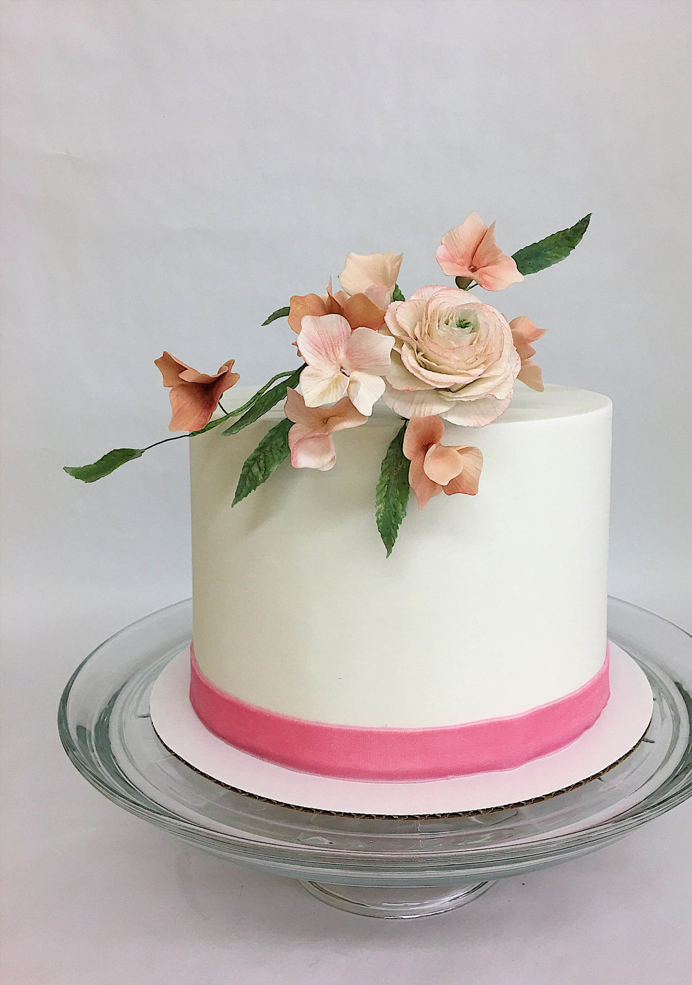prettiest birthday cake pink sugar flowers.jpg