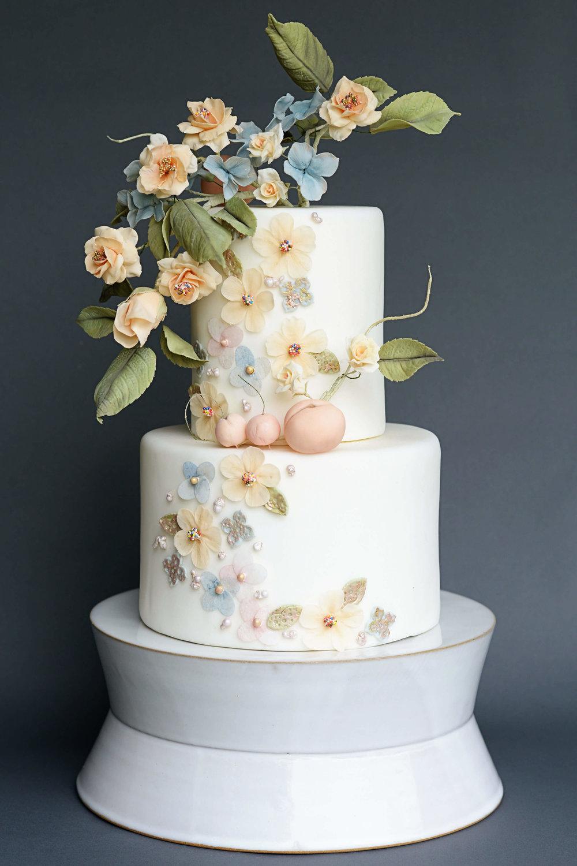wedding cake handmade sugar flowers fruit.jpg