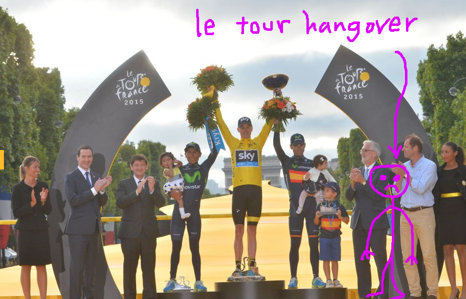 Very sad, very chilling out on the podium.