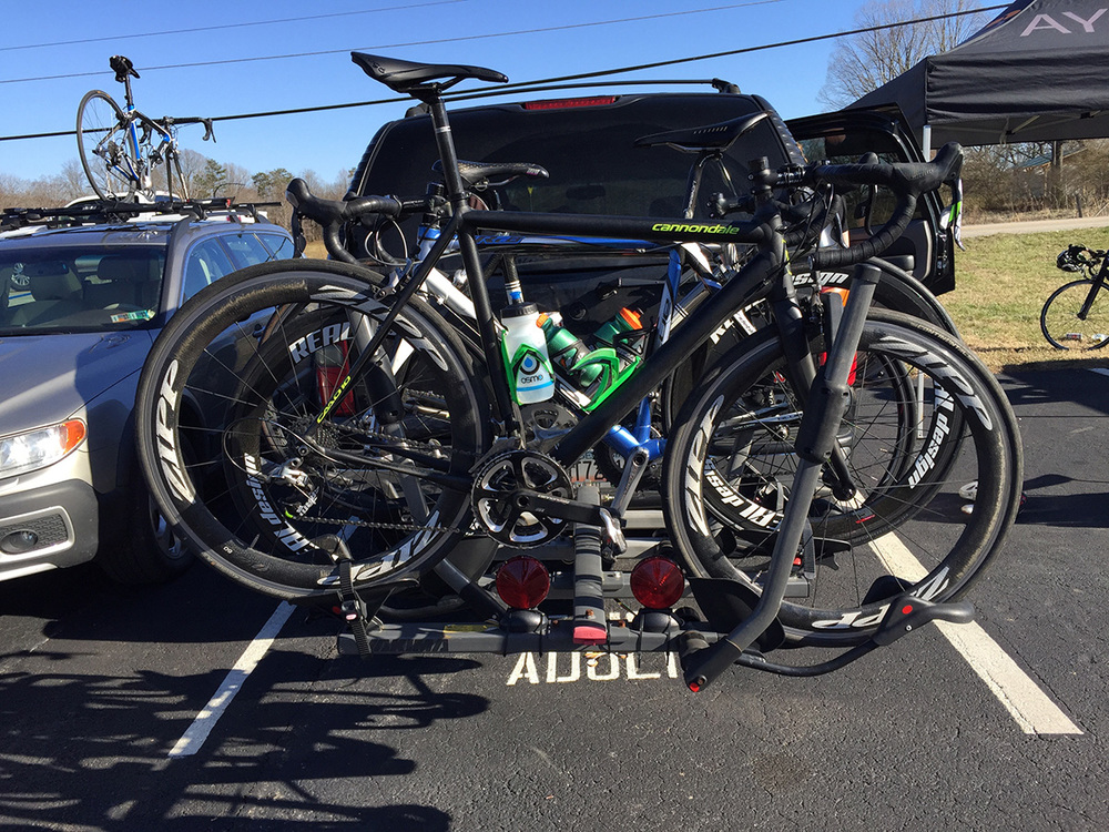 A CAAD10 Black at the Gainesville Gran Prix - with the Zipp wheels and SRAM Red, this bike is sooooo sweet.